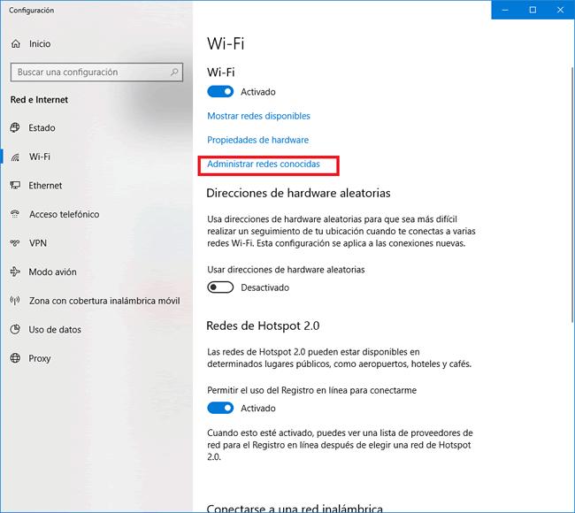 Configuración eduroam en windows 10 - paso 3