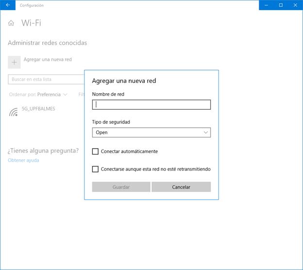 Configuración Eduroam Windows 10 - Paso 5
